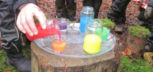 Farbkreis, Grund und Mischfarben