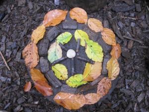 Blätter Mandala